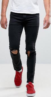 jeans in skinny fit with raw hem