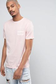 t shirt in pink with small logo