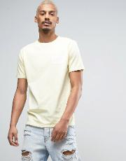 t shirt in yellow with small logo