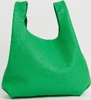 Hill And Friends Happy Leather Shopper Bag