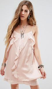 Cami Dress With Frill Front