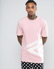 x umbro t shirt with large logo