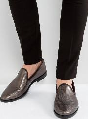 anton patent loafers in gunmetal