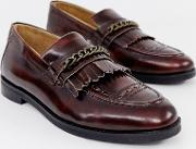 Archer Chain Loafers Burgundy