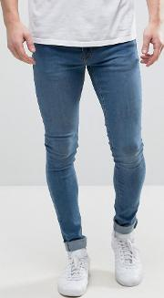extreme skinny jeans  mid wash blue