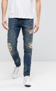 Jeans Patch Rip And Repair  Yellow Wash