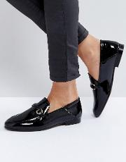 Arianna Black Patent Loafers