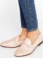 arianna blush leather loafers