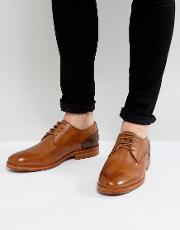 enrico leather derby shoes in tan