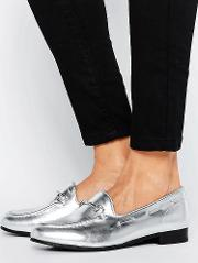 H By Hudson Snaffle Metallic Loafers