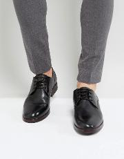 H London Enrico Leather Derby Shoes In Black