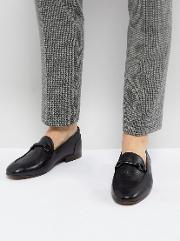 H London Renzo Leather Loafers In Black