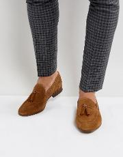 Pierre Suede Loafers In Tan