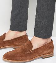 romney suede penny loafer shoes