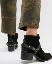 London Suede Western Ankle Boots