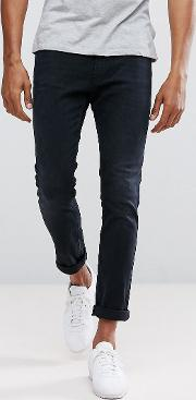 Hugo By  Boss  734 Skinny Fit Super Stretch Jeans  Washed Blue
