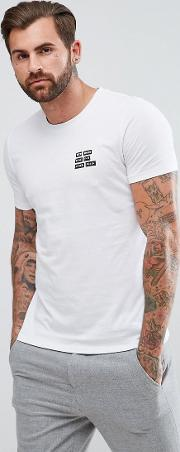 Hugo By  Boss Dords Slim Fit Been There Done That Print  Shirt  White