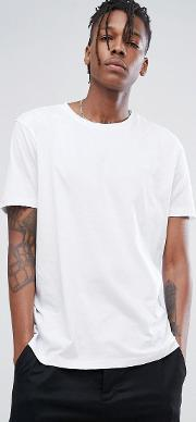 Hugo Crew Neck Logo T Shirt In Whte