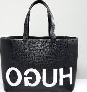 Tote Bag With Textured Logo