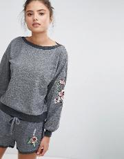 Relaxed Volume Lounge Embroidered Jumper