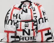 original exploded logo packable tote
