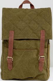 Double Strap Quilted Backpack