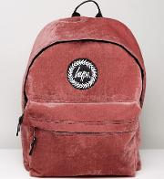 Backpack In Red Velour