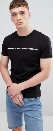 t shirt with race logo in black