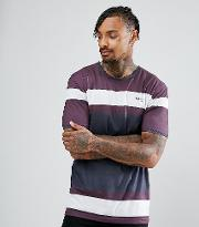 muscle t shirt in burgundy with logo
