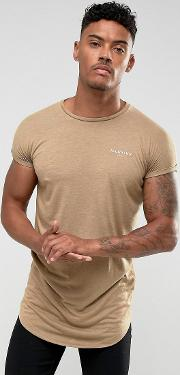 t shirt in stone with rolled sleeves