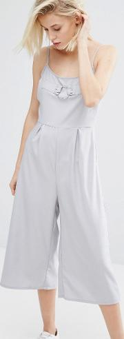Culotte Jumpsuit With Ring Detail