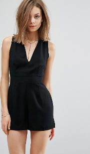 playsuit with chain detail