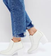 henry white ankle boots