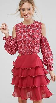 allegro lace and ruffles dress