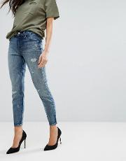 alana high rise cropped ripped skinny jeans