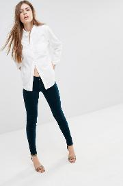 luxe velvet super skinny trousers