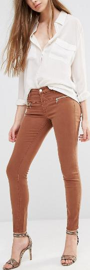 Miranda Skinny Trousers With Zips