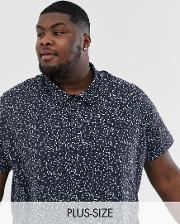 Polo With Disty Floral Print