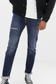 Tall Skinny Fit Jeans Crosshatch