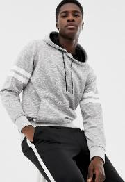 Core Hoodie With Arm Stripe