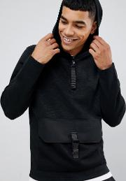 Core Hoodie With Clip Pouch Pocket