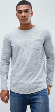 core melange long sleeve tee