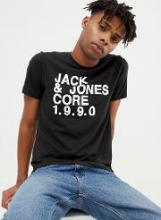 core t shirt with brand graphic