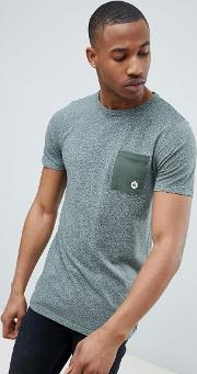 core t shirt with contrast pocket