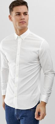 Essentials Slim Fit Linen Mix Shirt