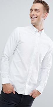 Essentials Slim Fit Oxford Shirt
