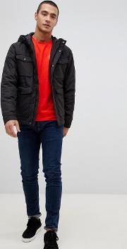 Hooded Mid Weight Parka Jacket