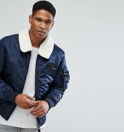 originals bomber with removable borg collar and patches