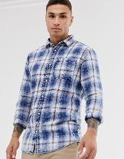 Originals Checked Long Sleeve Shirt Blue