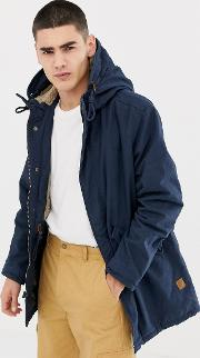 Originals Parka With Borg Lined Hood And Drawstring Waist